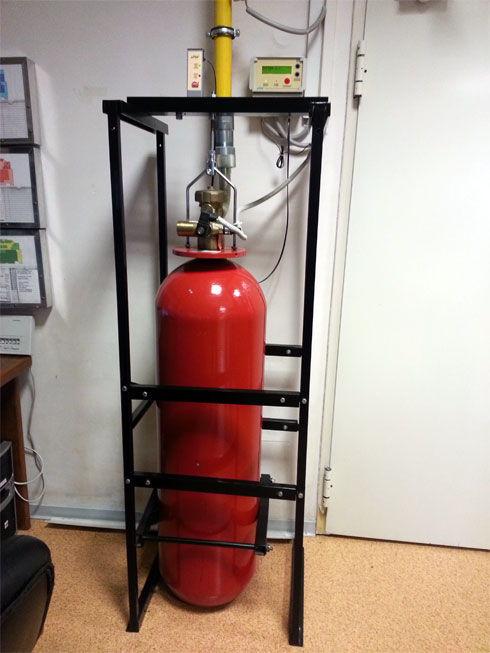 Установка газового модуля